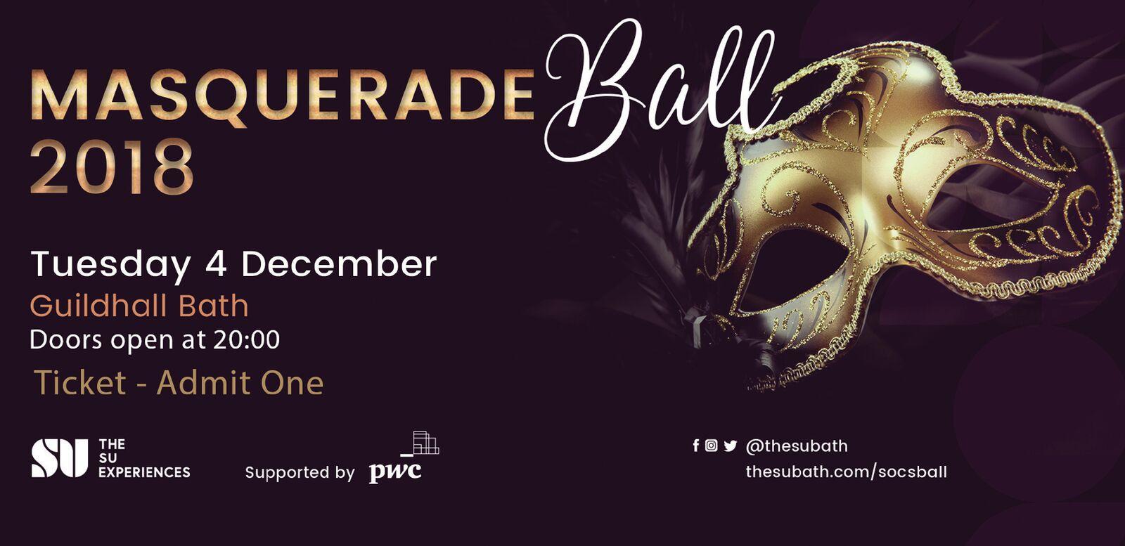 gamme complète de spécifications performance fiable design distinctif Societies Masquerade Ball 2018