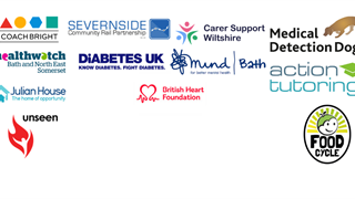 Logos from charities who visited