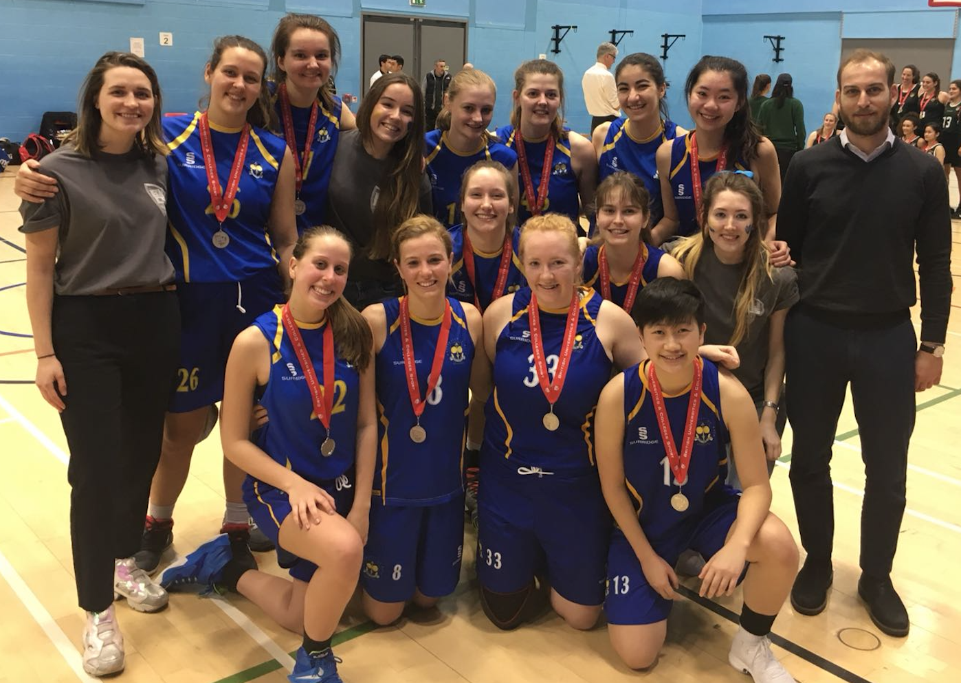 Women's First Team at the 2018 BUCS cup final